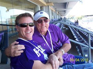 Me and my dad! Go K-State!