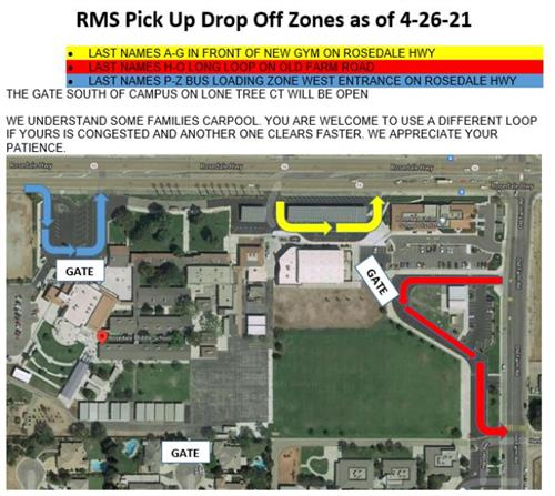 Pick Up/ Drop Off Zones