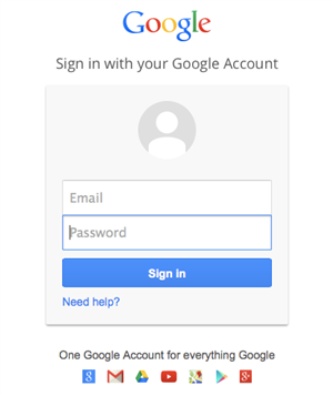 Log into Google 1st!
